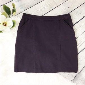 Boden Sixties Eggplant Purple Career Mini Skirt